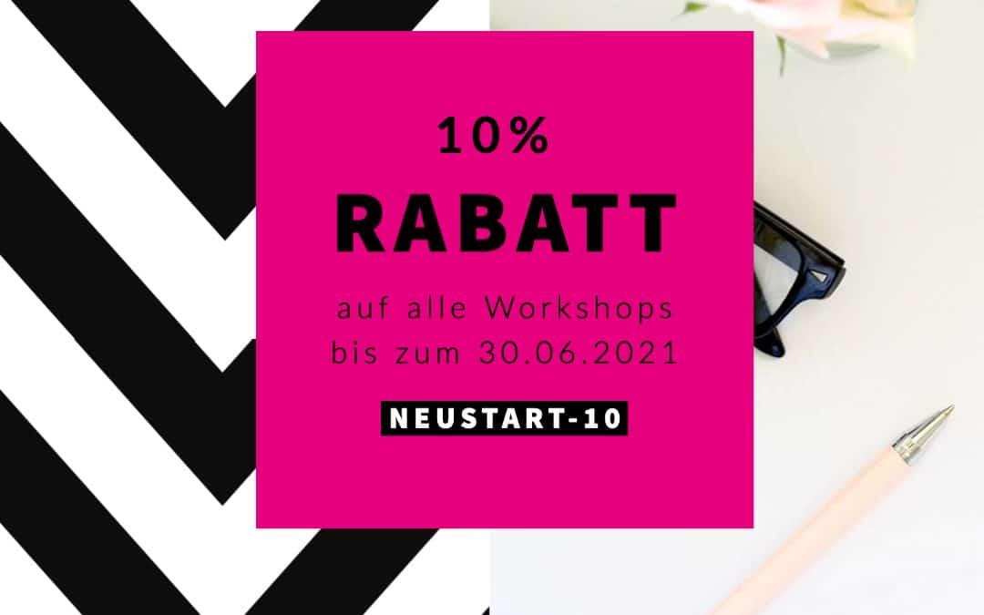 10% Rabatt auf alle Workshops!